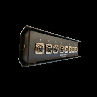 BUVNE8F/FMDLX3-DMX-1-4-1-4-LO - MTI Metall-Stagebox 08
