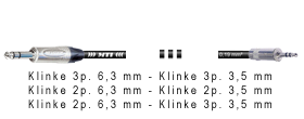 Klinke 3p. 6,3 mm - Klinke 3p. 3,5 mm