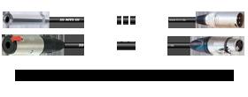 Klinkenbuchse 3p. 6,3mm - XLR 3p. male