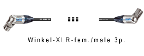 Mikrofonkabel Winkel-XLR-fem./Winkel-XLR-male 3p.