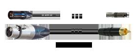 Mikrofonkabel Klinke 3p./Mini-XLR-male 3p.