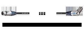 XLR 3p. female - Winkel-XLR 3p. male